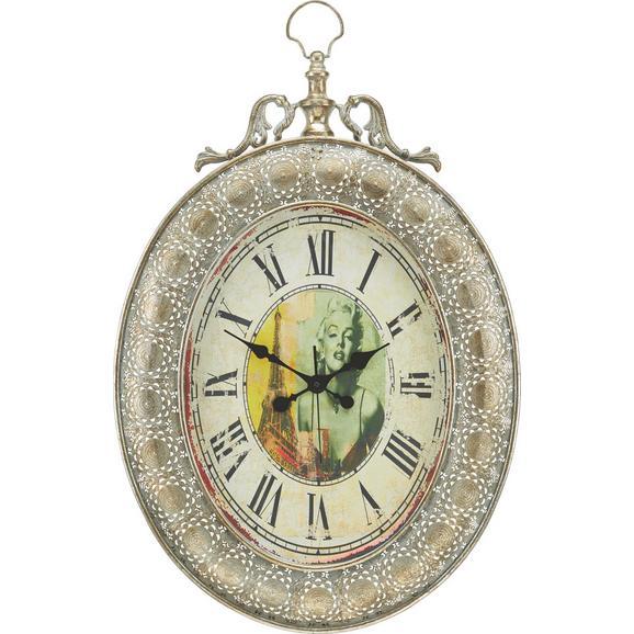 Uhr Elizabeth ca. 56,5/82 cm - Silberfarben, MODERN, Glas/Metall (56,5/6,5/82cm) - Premium Living