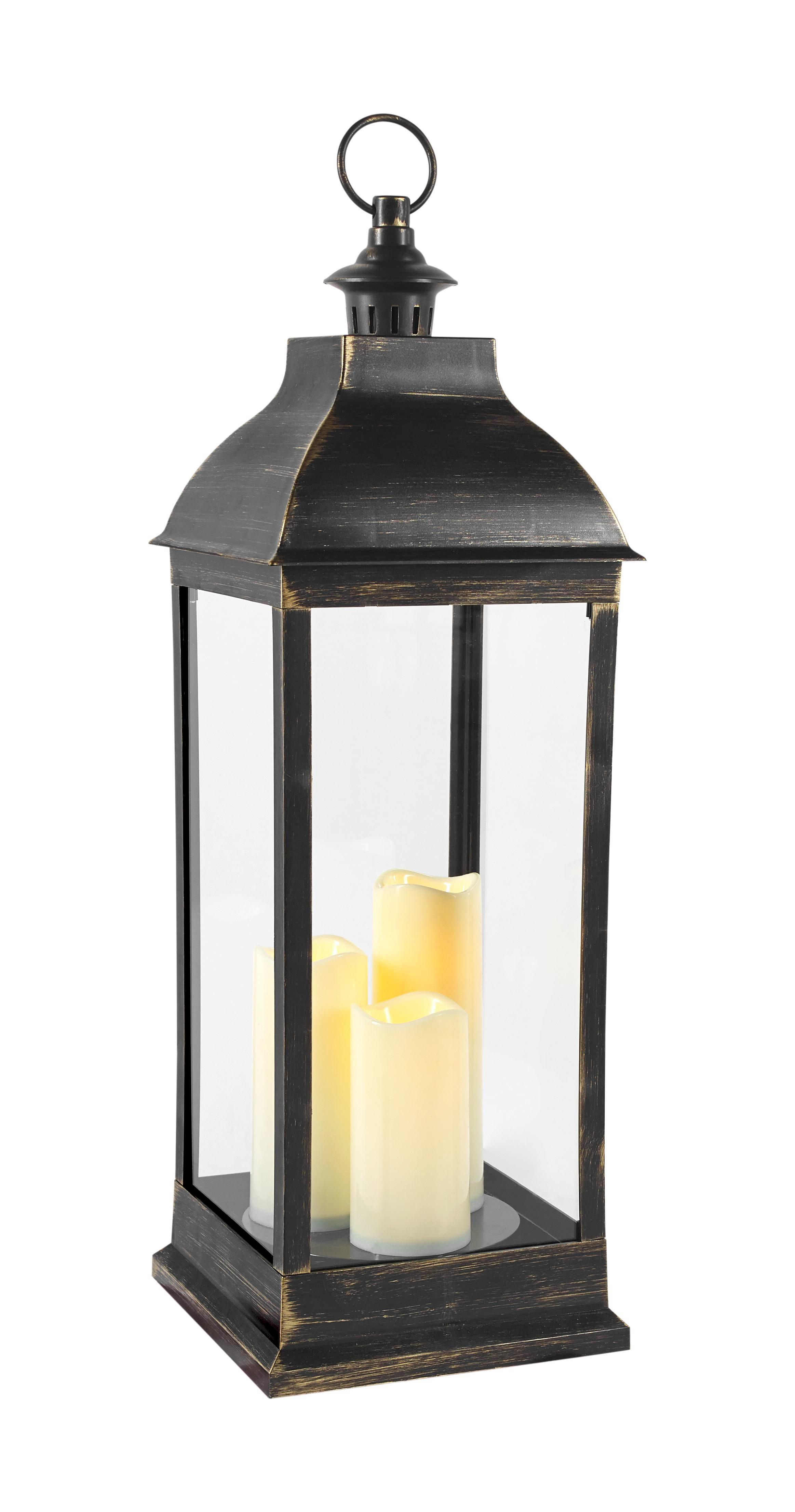 Lámpás Manuela - fekete, konvencionális, műanyag (24/71/24cm) - MÖMAX modern living