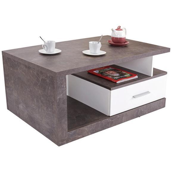 Klubska Miza Iguan - siva/bela, Moderno, leseni material (110/45/67cm) - Mömax modern living