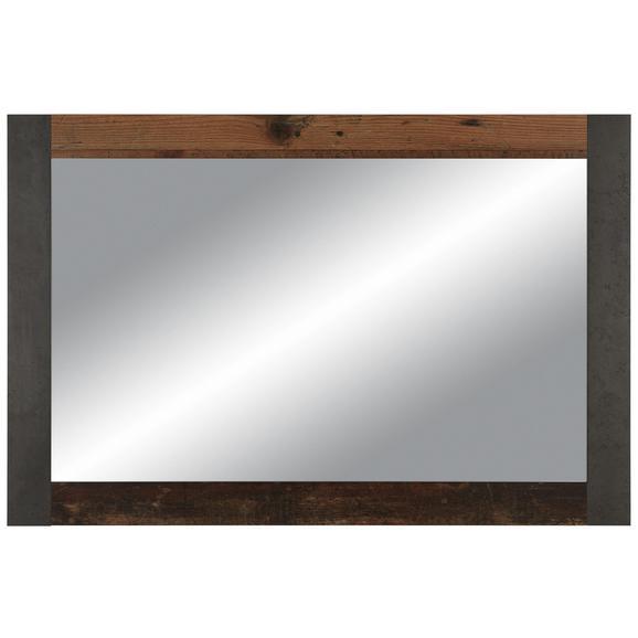 Wandspiegel in Beton- und Holzoptik - MODERN, Glas/Holzwerkstoff (116/76/2cm)