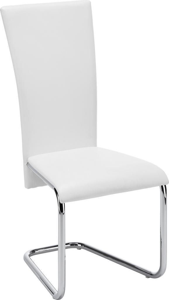 Schwingstuhl in Weiß - Weiß, MODERN, Textil/Metall (43/101/59cm) - Mömax modern living