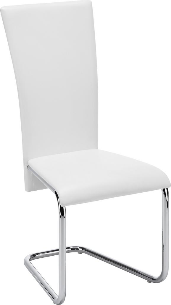 Schwingstuhl Weiß - Weiß, MODERN, Textil/Metall (43/101/59cm) - Mömax modern living
