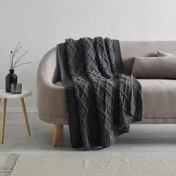 Kuscheldecke Saskia ca.130x180cm - Dunkelgrau, Textil (130/180cm) - Mömax modern living