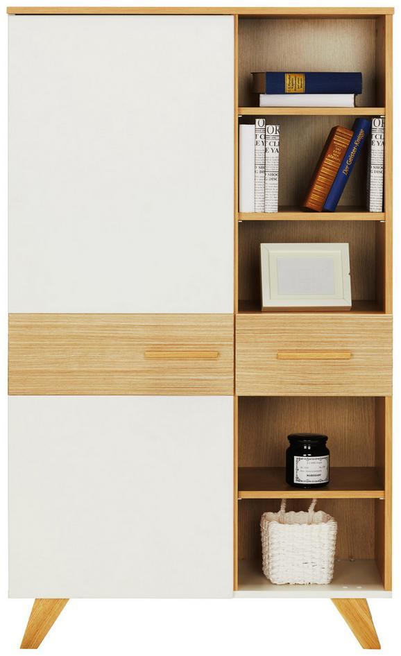 Highboard Weiß/Eichefarben - Eichefarben/Weiß, LIFESTYLE, Holz/Holzwerkstoff (85/143/40cm) - Mömax modern living