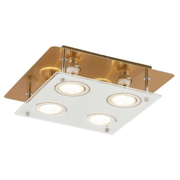 Led Mennyezeti Lámpa Naomi - Sárgaréz, Üveg/Fém (32/26/5,5cm)