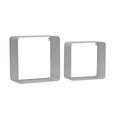 Wandregalset aus Metall in Weiß 2-teilig - Weiß, MODERN, Metall (30/35/30/35/15/18cm) - Modern Living