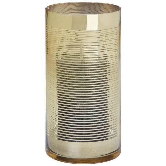 Windlicht Juliette aus Glas - Goldfarben, Glas (10/20cm) - Mömax modern living