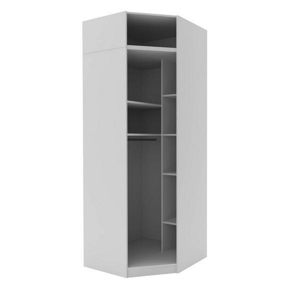 Eckschrank in Weiß - Weiß, MODERN, Holzwerkstoff (91,1/242,2/91,1cm) - Based