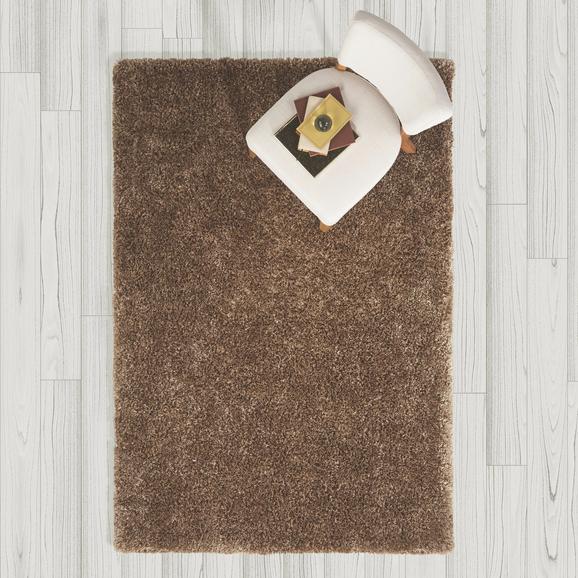 Teppich Hochflor Shaggy ca. 120x170 cm - Braun, MODERN, Textil (120/170cm) - Bessagi Home