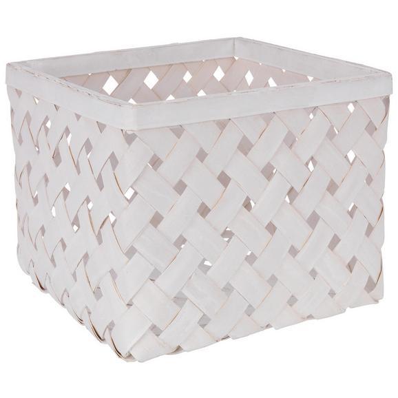 Košara Cubus - L - bela/svetlo siva, Romantika, naravni materiali (31/31/24cm)