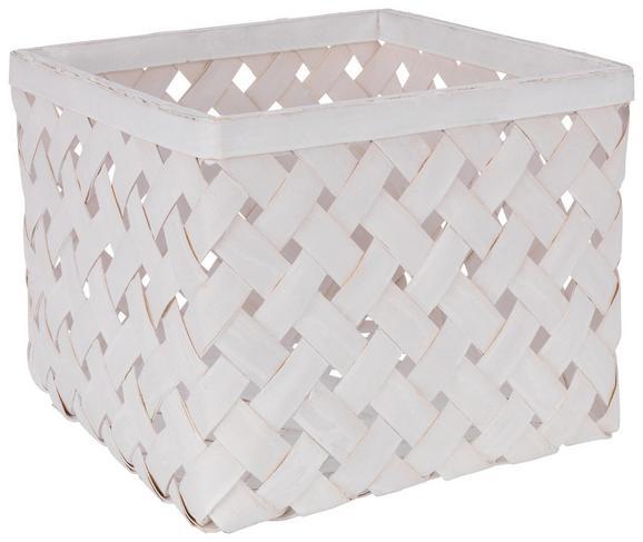 Košara Cubus - L - bela/svetlo siva, Romantika, ostali naravni materiali (31/31/24cm)