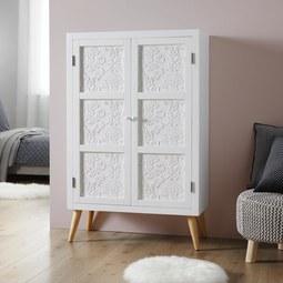 Kleiderschrank Valentina - Weiß/Pinienfarben, MODERN, Holz/Holzwerkstoff (80/128,5/36cm) - Modern Living