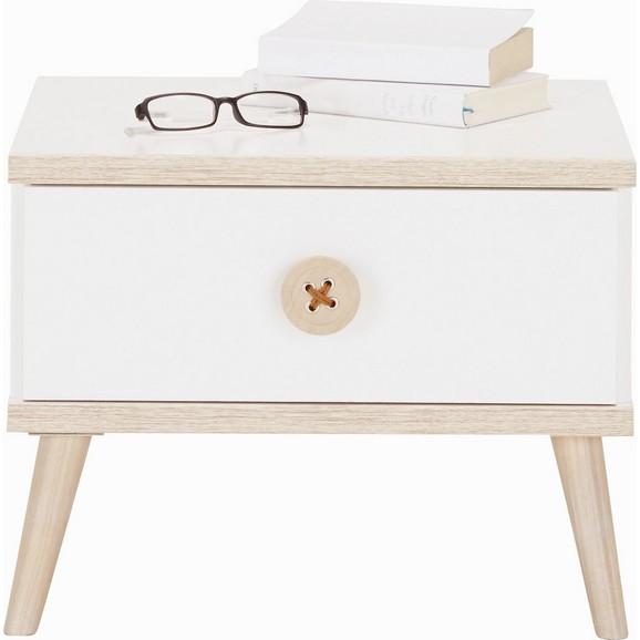 nachtk stchen in wei eiche online kaufen m max. Black Bedroom Furniture Sets. Home Design Ideas