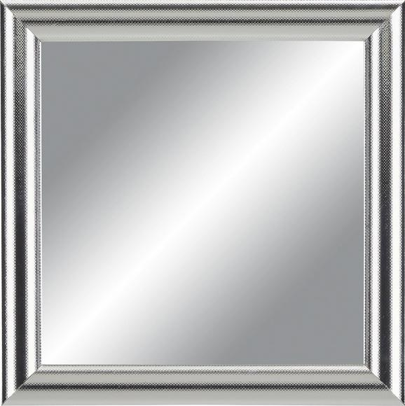 Wandspiegel in Silber, ca. 30x30cm - Silberfarben, MODERN, Glas/Holzwerkstoff (30/30cm)