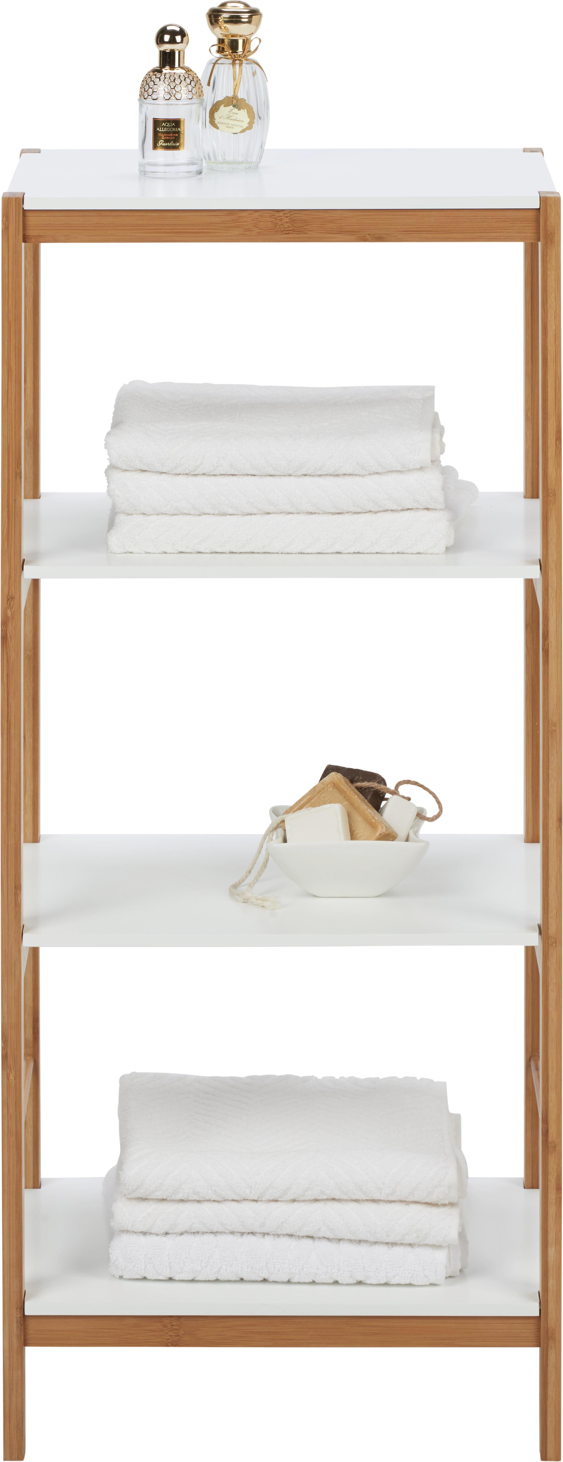 Badezimmerregal Mirella - Naturfarben/Weiß, KONVENTIONELL, Holz (40/95/30cm) - MÖMAX modern living