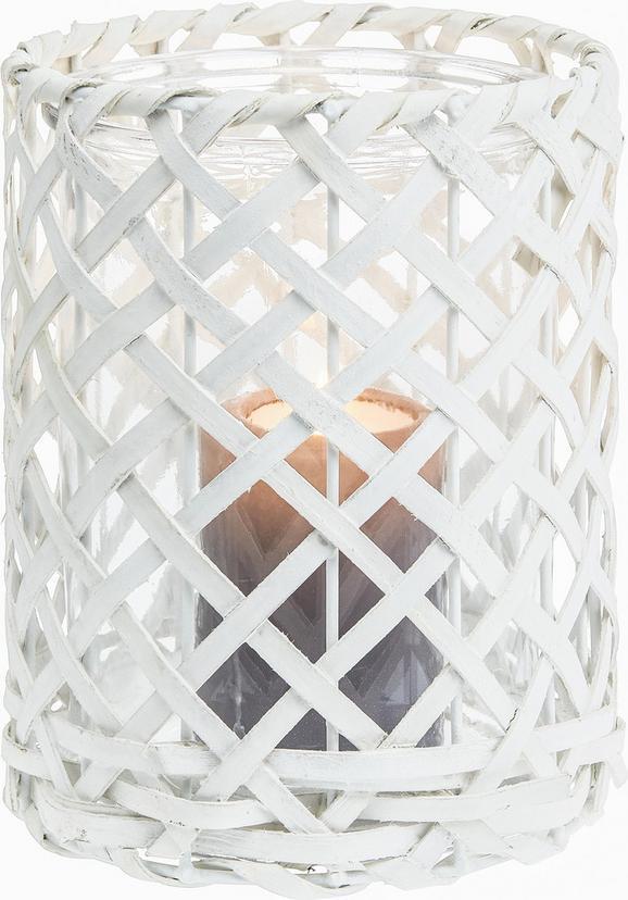Windlicht Antonia in Weiß aus Glas/Holz - Weiß, Glas/Holz (11,5/11,5cm) - Mömax modern living