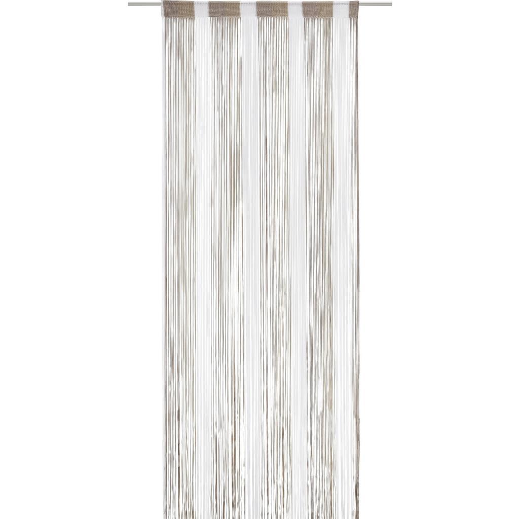 Fadenstore String Braun/gold/Weiß