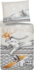 Bettwäsche Skilehrer - Baumwollsatin - Multicolor, KONVENTIONELL, Textil (140/200cm) - Mömax modern living