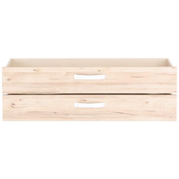 Schubkasteneinsatz in Eichefarben 2er Set - Eichefarben, MODERN, Holzwerkstoff/Kunststoff (114/40/37cm)