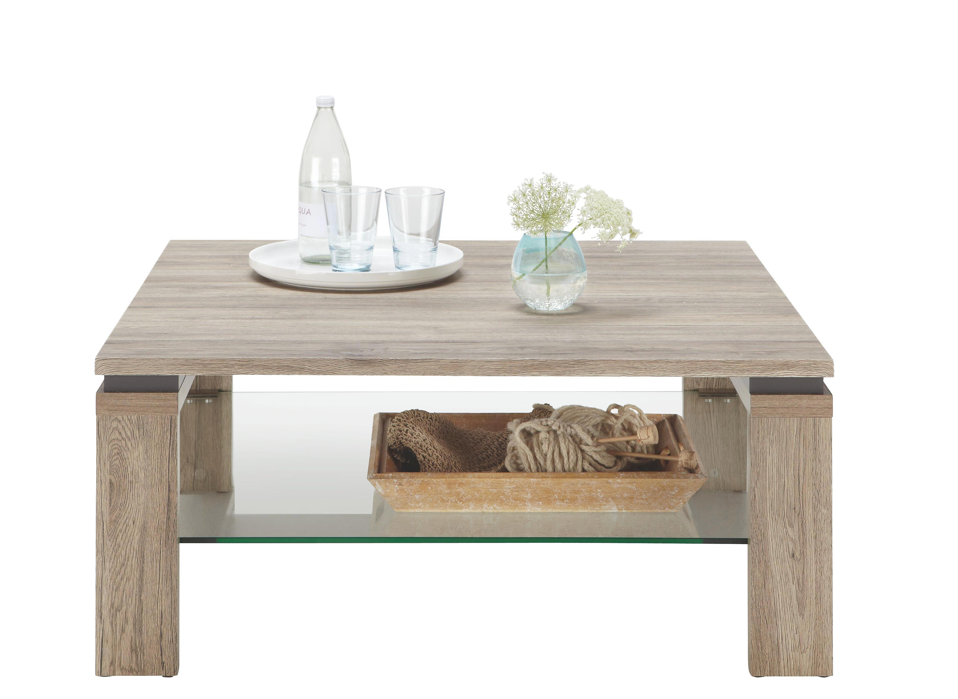 Couchtisch aus Eiche - MODERN, Holz (90/40/90cm) - PREMIUM LIVING