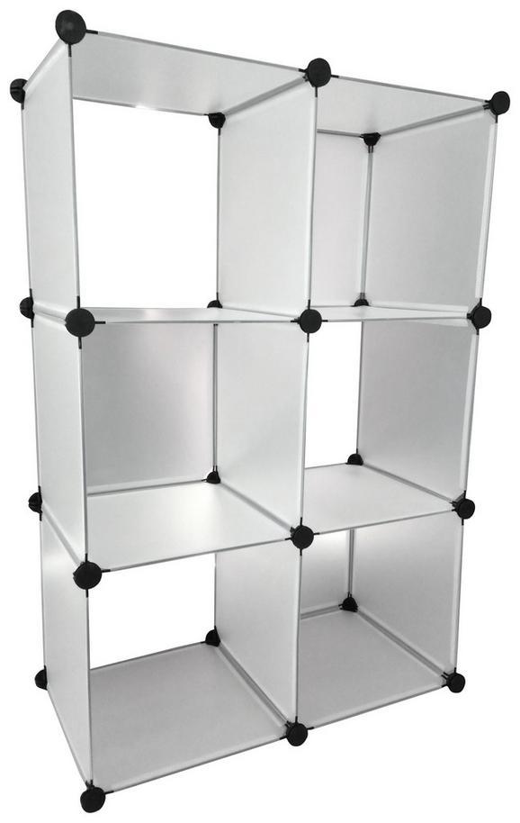 Polc Emil - áttetsző, modern, műanyag/fém (75/110/37cm)