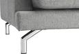 Sofa Boss - Chromfarben/Grau, KONVENTIONELL, Textil/Metall (205/88/99cm) - Landscape