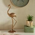 Okrasna Žival Flamingo - zlata, Moderno, kovina (13/10/40cm)