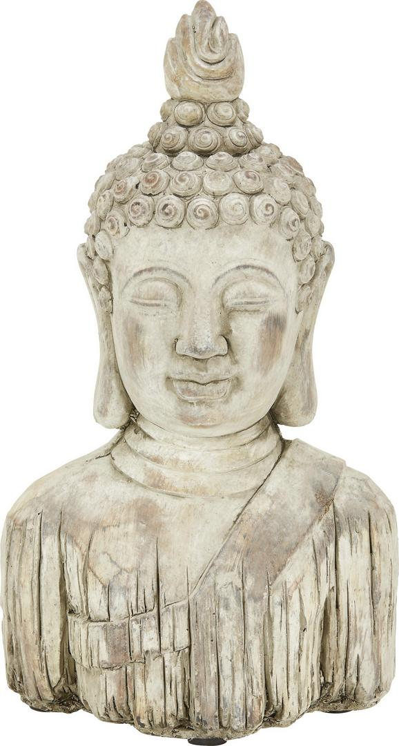 Glava Bude Buddha - rjava, Konvencionalno, kamen (14/10,5/26,5cm) - Mömax modern living