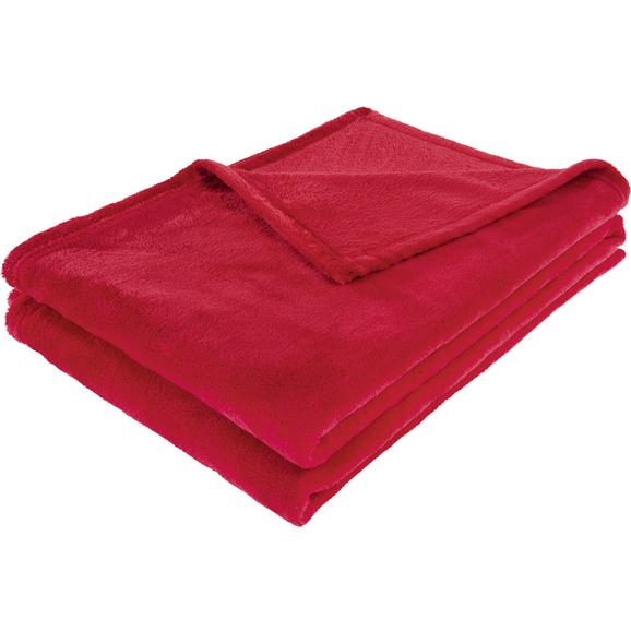 Pătură Pufoasă Kuschelix - roșu, textil (140/200cm) - Modern Living