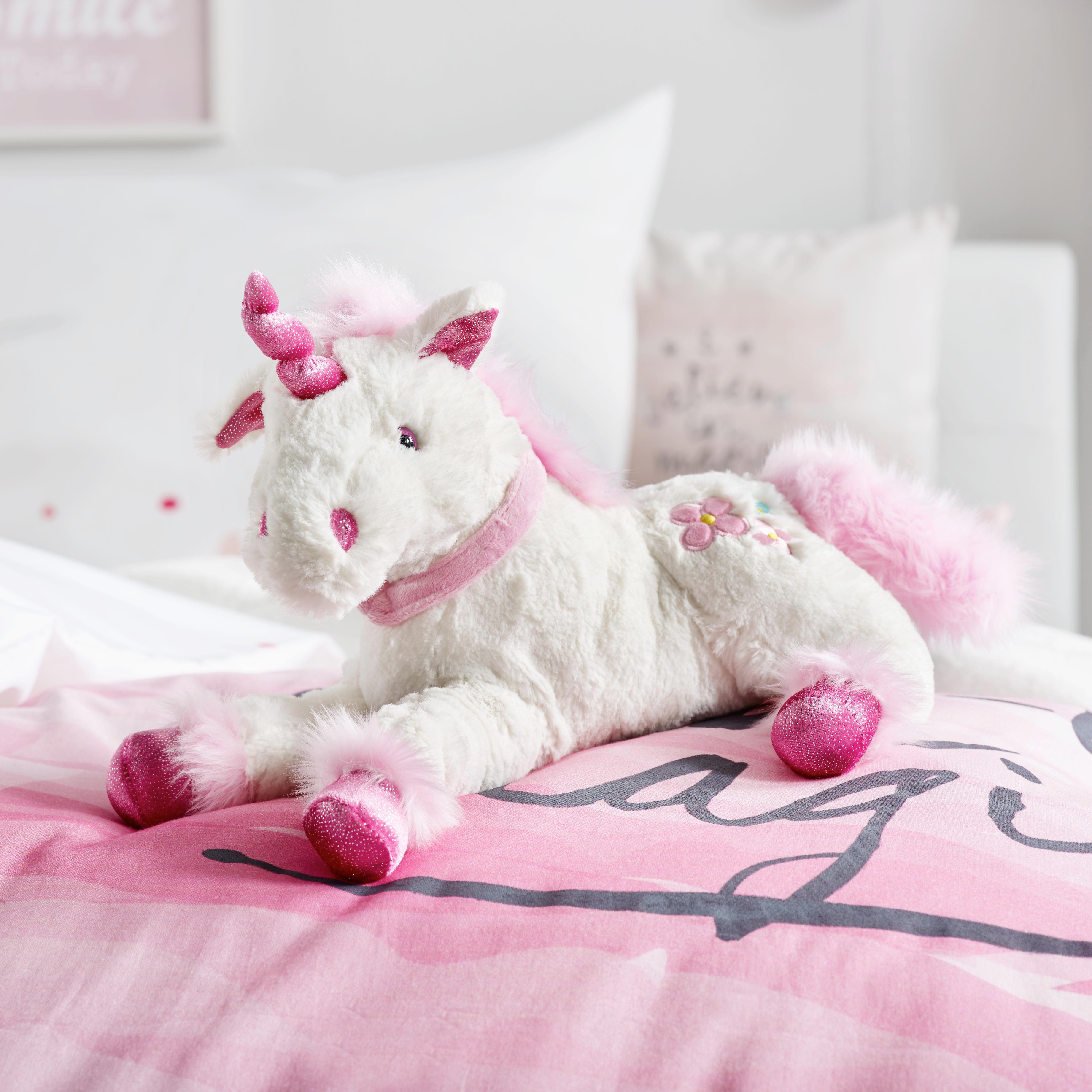 Plüschtier Feemi in Weiß/pink - Weiß, LIFESTYLE, Textil (35cm) - MÖMAX modern living