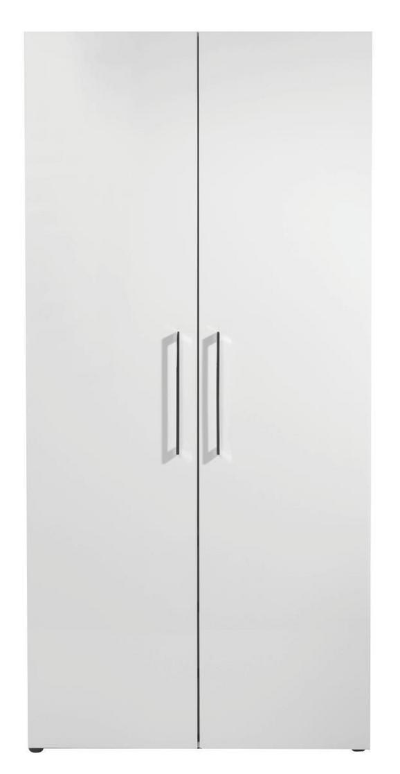 Drehtürenschrank Alpinweiß Hochglanz - Weiß, MODERN, Holzwerkstoff (100/208/57cm) - PREMIUM LIVING