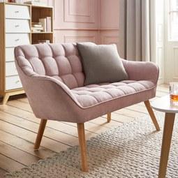 Sofa Monique Zweisitzer - Rosa, MODERN, Holz/Textil (127/76/74,5cm) - Mömax modern living