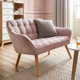 Zweisitzer Sofa Monique - Rosa, MODERN, Holz/Textil (127/76/74,5cm) - MÖMAX modern living