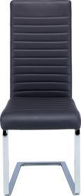Nihajni Stol Elisa -based- - siva/krom, Moderno, kovina/tekstil (44/102/60cm) - Based