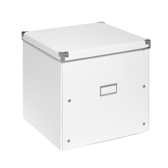 Škatla Za Shranjevanje Lorenz - bela, kovina/karton (33/33/31cm) - Mömax modern living