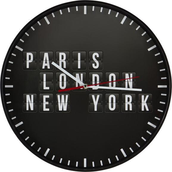 Stenska Ura Ursula - črna, Moderno, umetna masa (35cm)