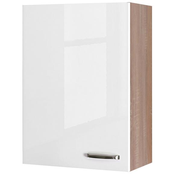 Kuhinjska Zgornja Omarica Venezia Valero - bela/hrast, Moderno, kovina/leseni material (60/89/32cm)
