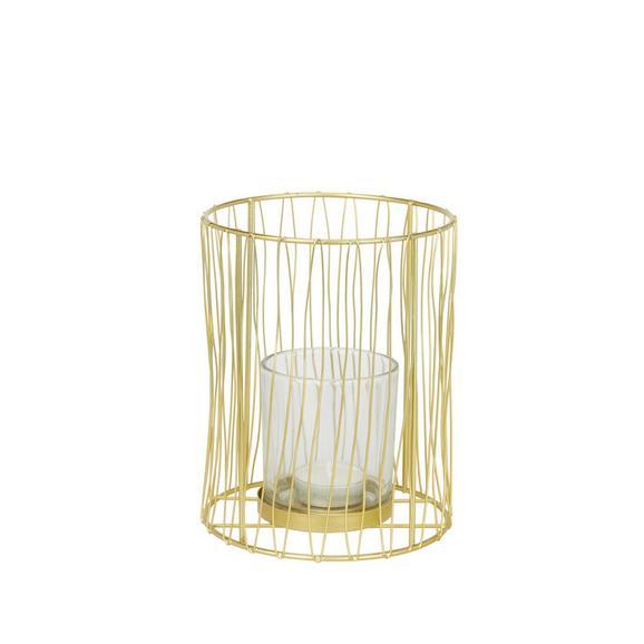 Teelichthalter Macius Gold - Goldfarben, Design, Metall (12.5/16cm)