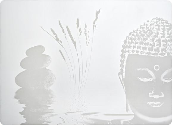 Tischset Buddha in Weiß - Weiß, LIFESTYLE, Kunststoff (33/45cm) - Mömax modern living