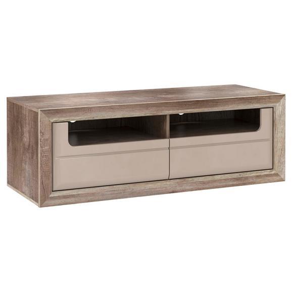 Element Tv Tiziano - bej/culoare lemn stejar, Modern, plastic/compozit lemnos (143,7/49,8/54,2cm)