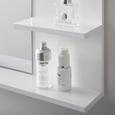 Spiegel in weiß 'Tia' - Weiß, MODERN, Glas (60/48/10cm) - Bessagi Home