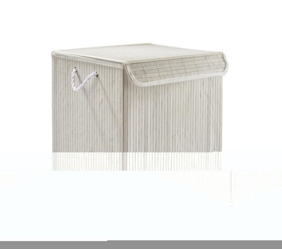 Wäschetonne Bamboo White in Weiß aus Holz - Weiß, Holz (41/32/42cm) - Mömax modern living