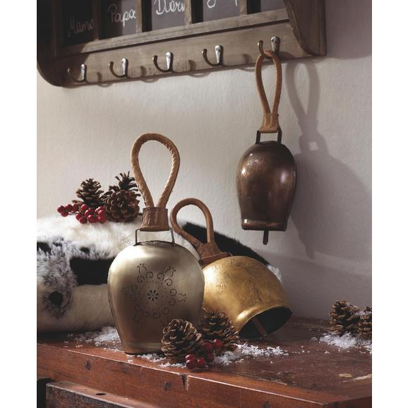 Deko Glocke in Goldfarben H ca. 28 cm 'Heidi' - Goldfarben, ROMANTIK / LANDHAUS, Metall (16/28/9cm) - Bessagi Home