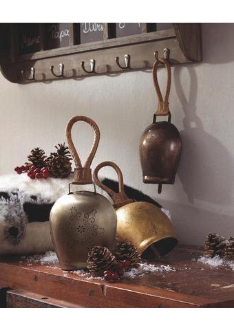 Deko Glocke in Silberfarben H ca. 28 cm 'Lisl' - Silberfarben, ROMANTIK / LANDHAUS, Metall (16/28/9cm) - Bessagi Home