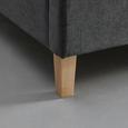 Polsterbett Gallardo 180x200cm inkl. 7-zonen-ttfk-matatze - Anthrazit/Weiß, MODERN, Holz/Textil (186/100/215cm) - Mömax modern living