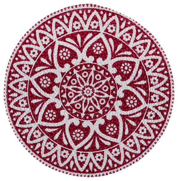 Tischset Mandala Rot D. 38cm - Rot, LIFESTYLE, Textil (38cm) - Mömax modern living
