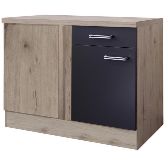 eckunterschrank anthrazit eiche online kaufen m max. Black Bedroom Furniture Sets. Home Design Ideas