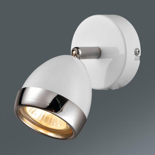Reflektor Nantes - barve kroma/bela, Trendi, kovina/umetna masa (12,5/14cm) - MÖMAX modern living