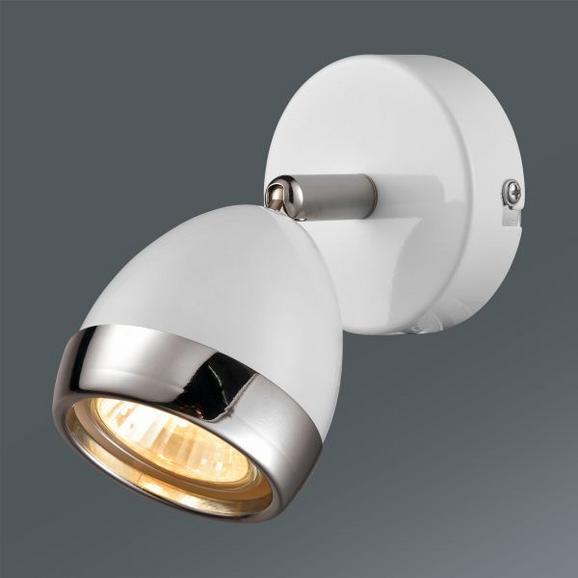 Reflektor Nantes - bela/krom, Trendi, kovina/umetna masa (12,5/14cm) - Mömax modern living
