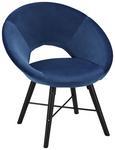 Sessel Blau - Blau/Schwarz, MODERN, Holz/Textil (60/77/71cm) - Modern Living